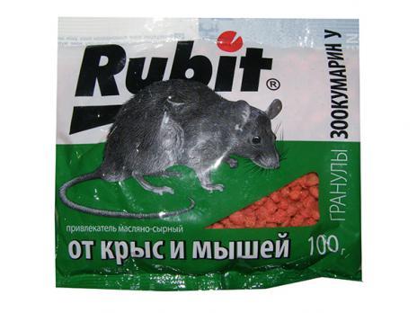 Рубит гранулы от грызунов 100 грамм (100)