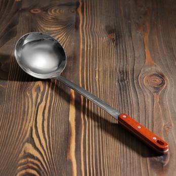 Половник узбекский с деревянной ручкой 47см