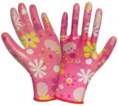 Перчатки нейлон с облиткой (для сада) (12)