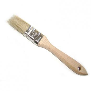 Кисть с деревянной ручкой 25мм (10)